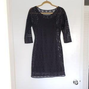 Express Black Dress with Cut out lace